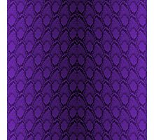 Deep Purple and Black Python Snake Skin Reptile Scales Photographic Print
