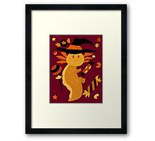 Halloween Candy Axolotl Framed Print