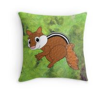 A Chippy Chipmunk - pillow & tote design Throw Pillow
