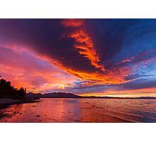 Intense Dusk - Lake Tahoe Photographic Print