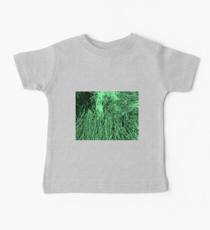 Abstract Green & Black Lines Pattern Baby Tee
