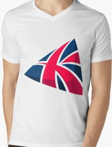 British 578 Mens V-Neck T-Shirt