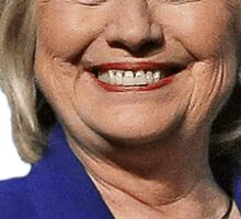 Smiling Hillary Sticker
