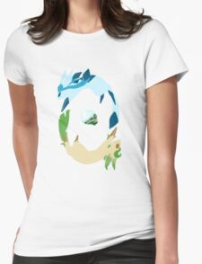Glaceon and Leafeon Womens Fitted T-Shirt