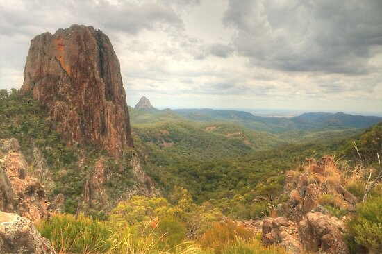 Crater Bluff in the Warrumbungles by Michael Matthews