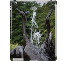 Fountain With Birds Detail - Pinelawn Memorial Park And Garden Mausoleums | Farmingdale, New York iPad Case/Skin