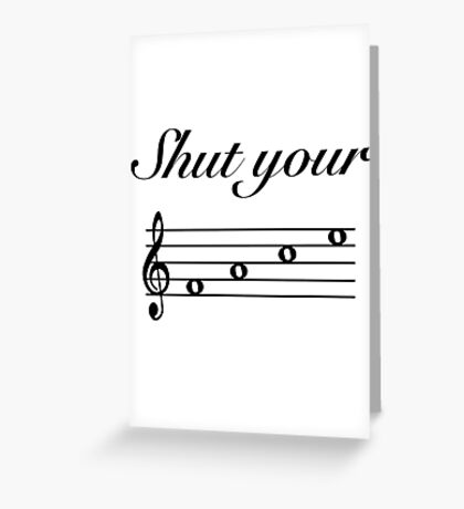 Funny Music Design Greeting Card