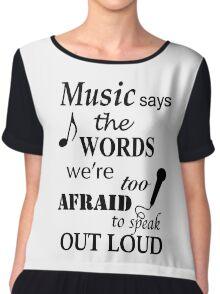 Music Quotes Chiffon Top