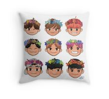 Flower Crown Exo Throw Pillow