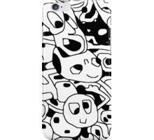 Hidden faces black & white iPhone Case/Skin