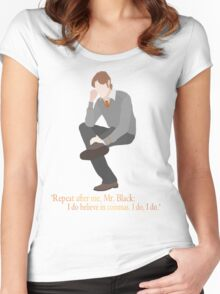 Remus Believes in Commas Women's Fitted Scoop T-Shirt