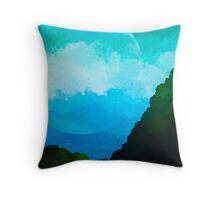 Stary Night Moon in sight  Throw Pillow