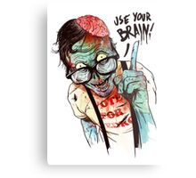 Use your brain Metal Print