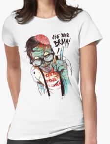 Use your brain Womens Fitted T-Shirt