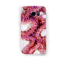 The Anemone Collection - ivory and purple Samsung Galaxy Case/Skin