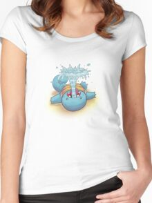 Gargling Squirtle Women's Fitted Scoop T-Shirt