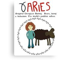 Children's Zodiac - Aries Girl Canvas Print