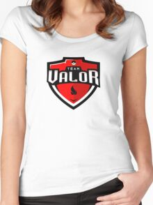 Team Valor Sports Themed Logo Women's Fitted Scoop T-Shirt