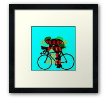 Cycling Sets Me Free Framed Print