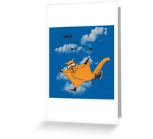 Flying Squirrel Suit Greeting Card