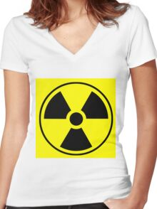 Radio Active Women's Fitted V-Neck T-Shirt