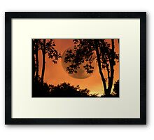 Orange Evening - JUSTART ©  Framed Print