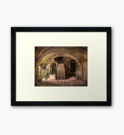 Old House in Modica Framed Print