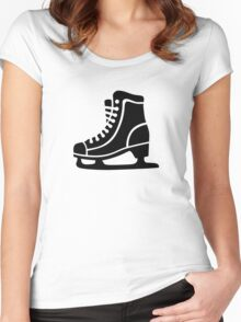 Black ice skate Women's Fitted Scoop T-Shirt