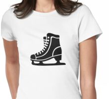 Black ice skate Womens Fitted T-Shirt