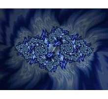 Emeralds on a Bed of Sapphire Flames Photographic Print