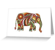 Vintage Psychedelic Elephant Greeting Card