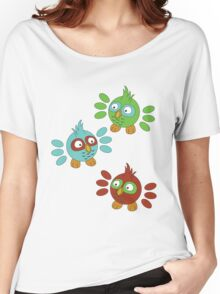 Happy Little Owls Women's Relaxed Fit T-Shirt
