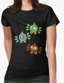 Happy Little Owls Womens Fitted T-Shirt