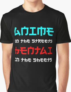 Nerdy Japanese Shirt Anime on Street Hentai in Sheets Graphic T-Shirt