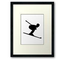 Downhill Skiing Framed Print