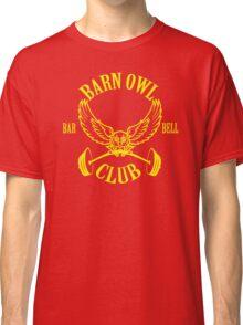 Barn Owl Barbell Club Yellow Classic T-Shirt