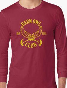 Barn Owl Barbell Club Yellow Long Sleeve T-Shirt