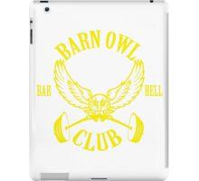 Barn Owl Barbell Club Yellow iPad Case/Skin
