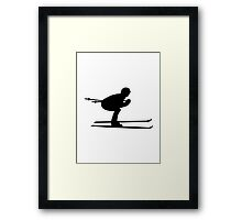 Downhill ski skiing Framed Print