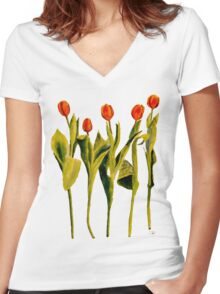 Five Tulips Women's Fitted V-Neck T-Shirt