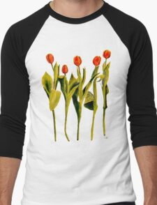 Five Tulips Men's Baseball ¾ T-Shirt