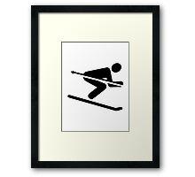 Ski downhill Framed Print