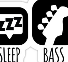 Eat Sleep Bass Music Mantra Sticker