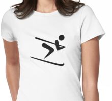 Skiing icon Womens Fitted T-Shirt