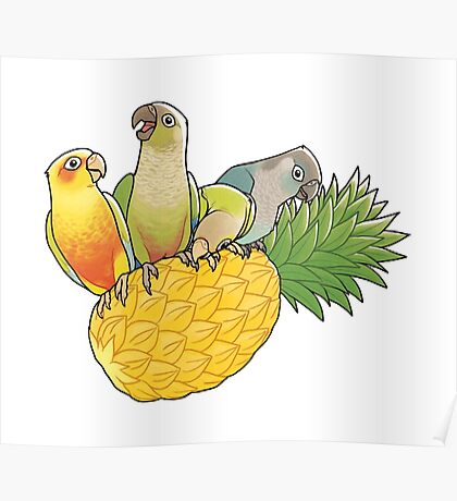 Green Cheek Paradise Poster