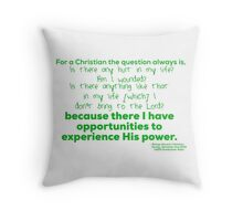 The question always is Throw Pillow