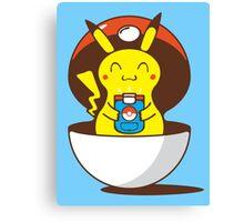 Pikachu's Virtual Training Canvas Print