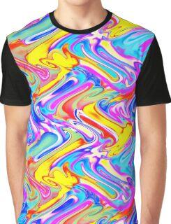 A Trendy Splash of Swirled Watercolor Graphic T-Shirt
