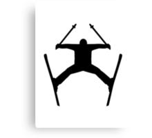 Freestyle ski jump Canvas Print
