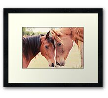 Jazz and Luc Framed Print